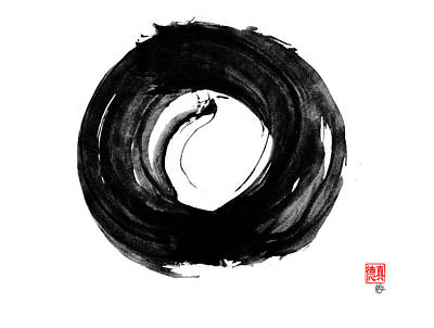 Dragon Enso Art Print