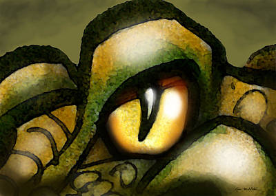 Serpent Painting - Dragon Eye by Kevin Middleton