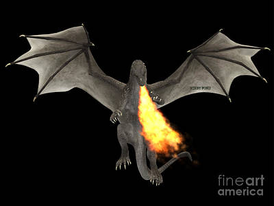 Dragon Fire Art Print by Corey Ford