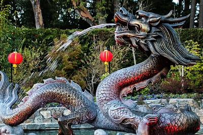 Photograph - Dragon Fountain by Perggals - Stacey Turner