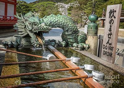Photograph - Dragon Fountain Seiryu I by Karen Jorstad