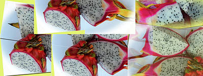 Photograph - Dragon Fruit Collage by Tina M Wenger