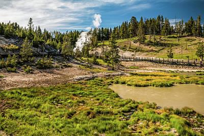 Dragon Geyser At Yellowstone Art Print