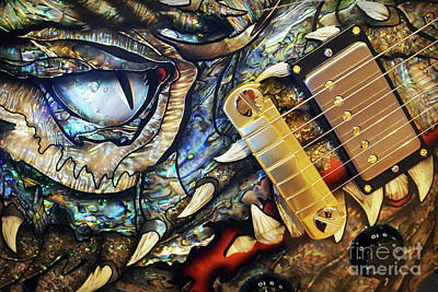 Photograph - Dragon Guitar Prs by Martin Konopacki