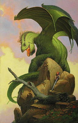 Painting - Dragon Hunting by Jim Thiesen