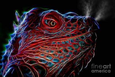 Photograph - Dragon-iguana-sauras by Patrick Witz