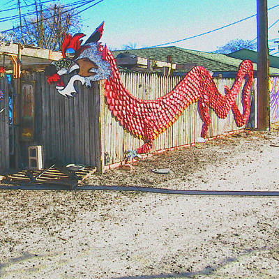Photograph - Dragon In The Alley Way by Kelly Awad