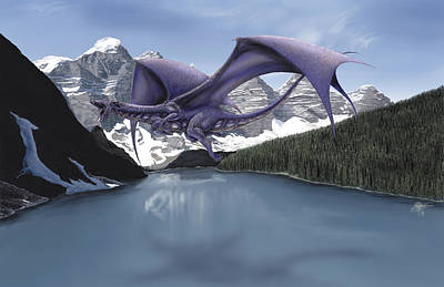 Digital Art - Dragon Lake by Rob Carlos
