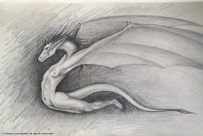 Dragon Man Art Print by Shaun McNicholas