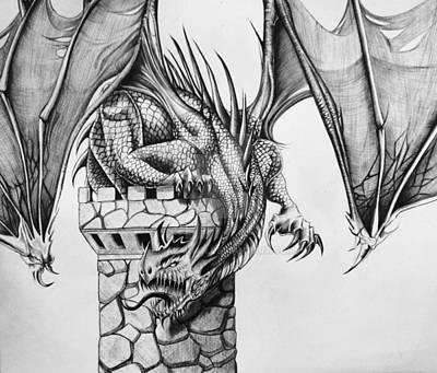 Dragon Art Print by Maritza Montnegro