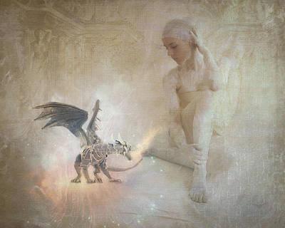 Digital Art - Dragon Mistress by Terry Fleckney