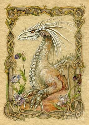 Dragon Mixed Media - Dragon by Morgan Fitzsimons