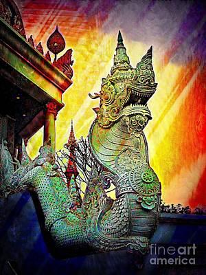Digital Art - Dragon Of The East by Ian Gledhill