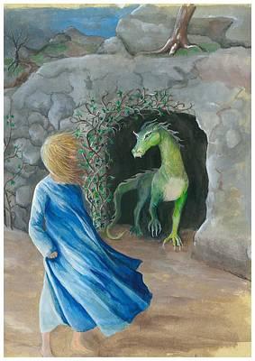 Dragon Princess 1 Art Print by Sally Balfany