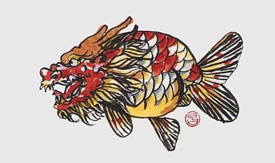 Dragon Ranchu Print by Shih Chang Yang