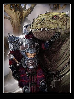 Dragon Rider02 Art Print by Roel Wielinga