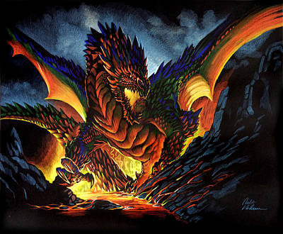 Pastel - Dragon by Robert Korhonen