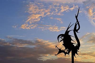 Photograph - Dragon Sculpture by Lyle Crump