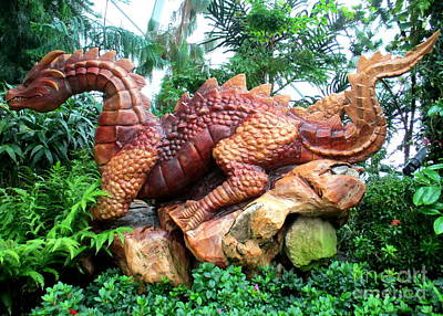 Photograph - Dragon Sculpture by Randall Weidner