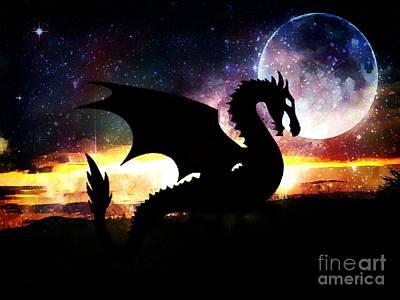 Photograph - Dragon Silhouette by Maria Urso
