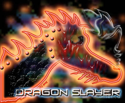 Digital Art - Dragon Slayer by Cheri Doyle