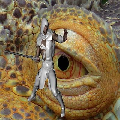 Digital Art - Dragon Slayer by Matthew Lacey