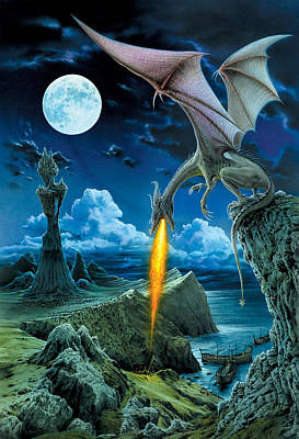Fantasy Photograph - Dragon Spit by The Dragon Chronicles - Robin Ko