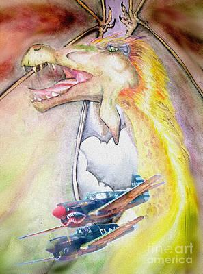 Warhawk Mixed Media - Dragon Squadron by Larissa Vitt
