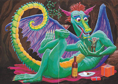 Drawing - Dragon Sups by Charles Cater