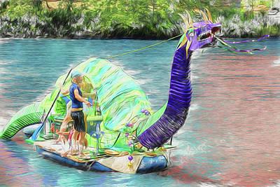 Asheville Digital Art - Dragon The Line by John Haldane
