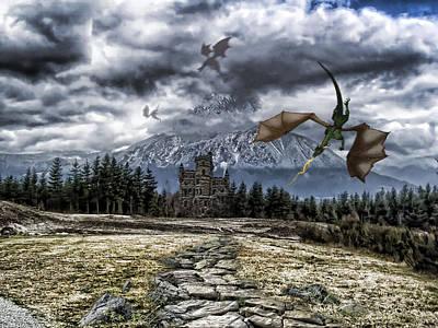 Dragon Trail. Print by Anastasia Michaels