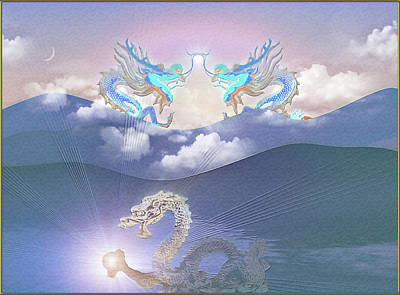 Digital Art - Dragon Treasure by Harald Dastis