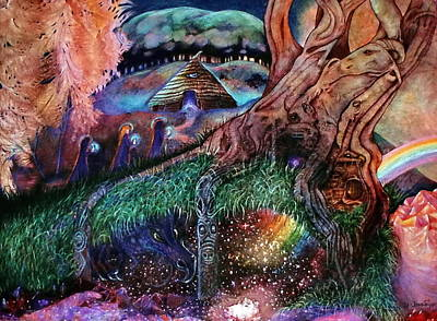 Dragon Under The Hill Art Print by Jane Tripp