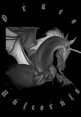Digital Art - Dragon Unicorn  by Robert G Kernodle