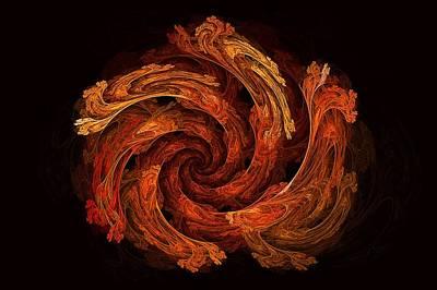 Digital Art - Dragon Vortex by Doug Morgan