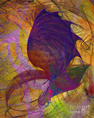 Dragon Digital Art - Dragon Wing by John Beck