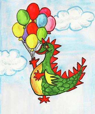 Painting - Dragon With Air Balloons by Irina Afonskaya