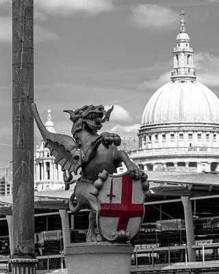Photograph - Dragon With St George Cross by Jacek Wojnarowski