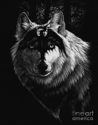 Dragon Wolf Art Print