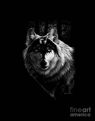 Digital Art - Dragon Wolf T-shirt by Stanley Morrison