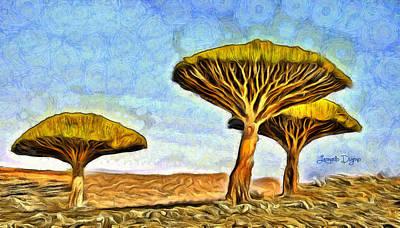 Vacation Painting - Dragonblood Trees by Leonardo Digenio