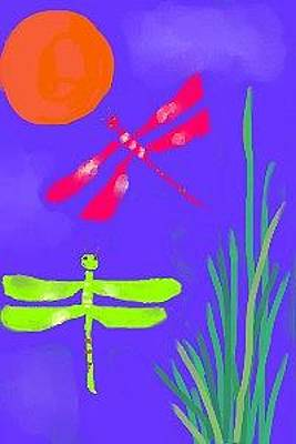 Digital Art - Dragonflies by Christine Quimby