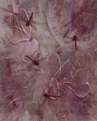 Dragonfly Digital Art - Dragonflies by Jean Gugliuzza