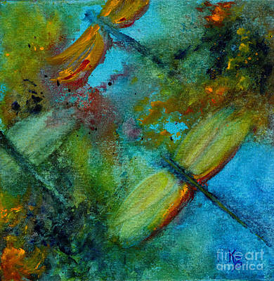 Painting - Dragonflies by Karen Fleschler