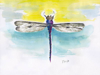Painting - Dragonfly 2 Abstract by Frank Bright