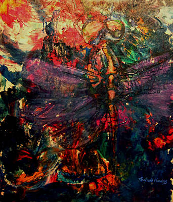 Painting - Dragonfly And Fishing Lures by Penfield Hondros