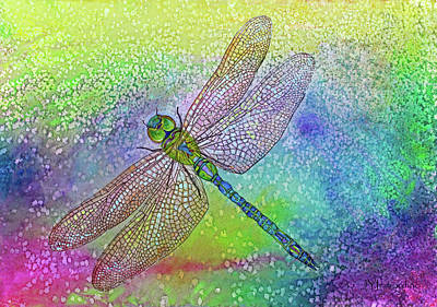 Painting - Dragonfly Blue by Janet Immordino