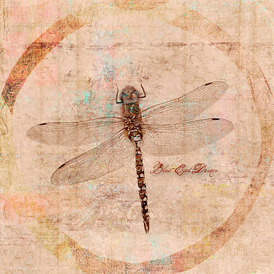 Mixed Media - Dragonfly by Carol Leigh