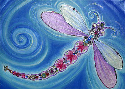 Painting - Dragonfly by Claire Johnson
