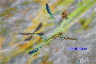 Digital Art - Dragonfly Dance by Rusty R Smith